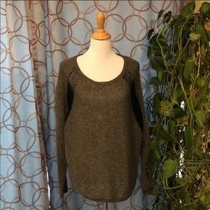 DKNY Jeans Semi Sheer Scoop Neck Sweater Large NWT